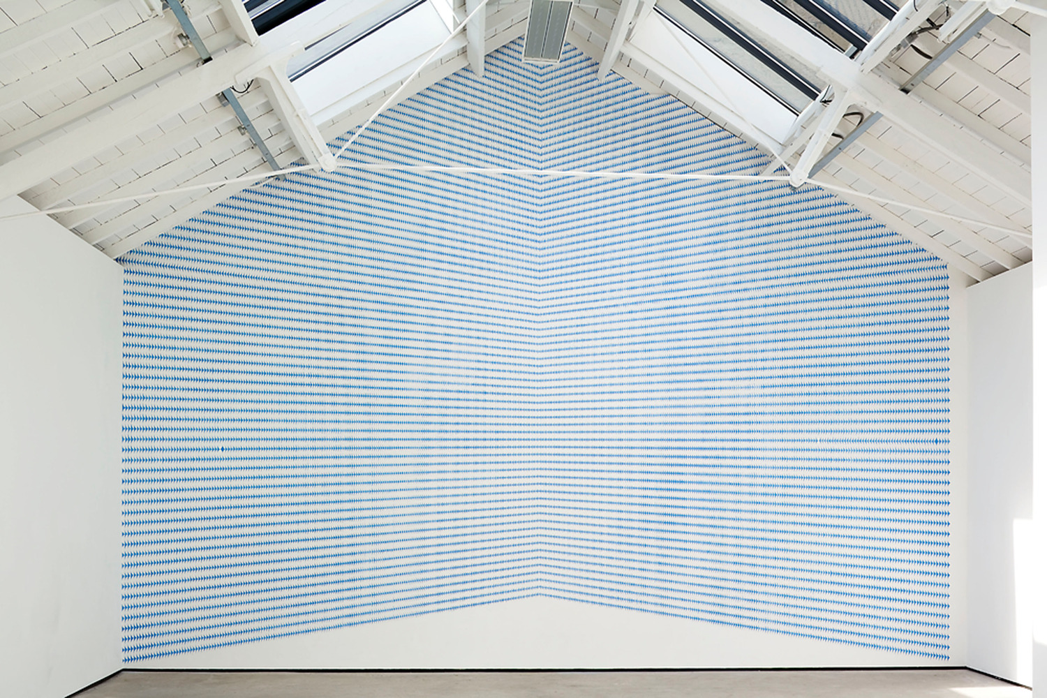 Richard Wright, No Title, 2010, Gouache on wall, Dimensions Variable