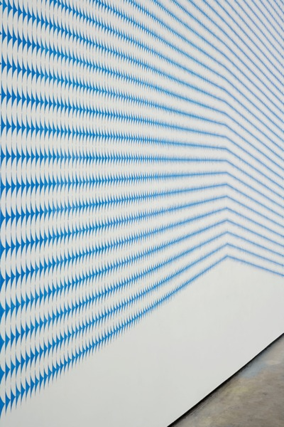 Richard Wright, No Title (detail), 2010, Gouache on wall, Dimensions Variable