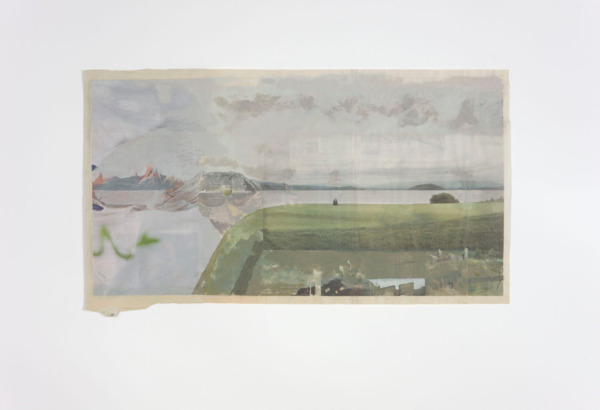 Tony Swain, Interested Things, 2011, Acrylic on pieced newspaper, 49.5 x 84 cm