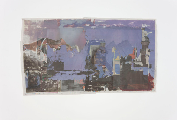 Tony Swain, Floor Wears Out, 2011, Acrylic on pieced newspaper, 65 x 114 cm
