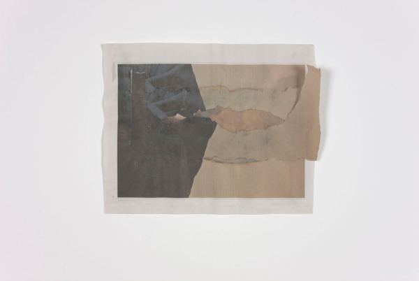 Tony Swain, Coping and more than coping, 2011, Acrylic on pieced newspaper, 25.5 x 32 cm
