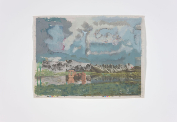 Tony Swain, The Incremental Stop, 2011, Acrylic on newsprint, 46.2 x 62.4 cm