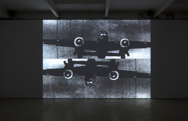 William E. Jones, Bay of Pigs, 2012, Sequence of digital files, black and white, sound, Duration: 3 mins 56 secs, Installation view, The Modern Institute, Aird's Lane, Glasgow, 2013