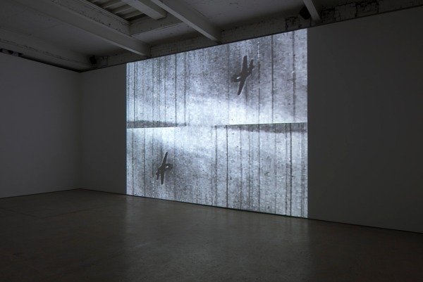 William E. Jones, Bay of Pigs, 2012, Sequence of digital files, black and white, sound, Duration: 3 mins 56 secs, Installation view, The Modern Institute, Aird's Lane, Glasgow, 2013v