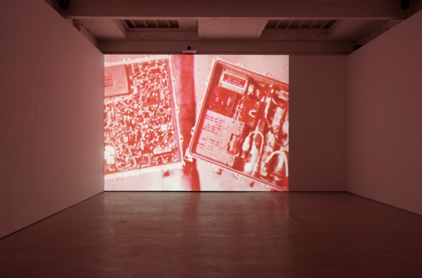 William E. Jones, Actual T.V. Picture, 2013, Sequence of digital files, colour, sound, Duration: 7 mins 9 secs, Installation view, The Modern Institute, Aird's Lane, Glasgow, 2013