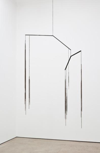 Martin Boyce, Caroline Says, 2013, Steel, chain, 232 x 117 x 106 cm