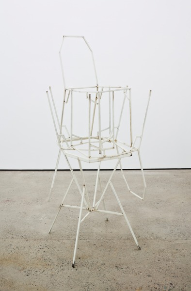 Martin Boyce, You Will Always Be Winter, 2012, Painted steel, rust, clear lacquer, 117.5 x 73 x 69 cm