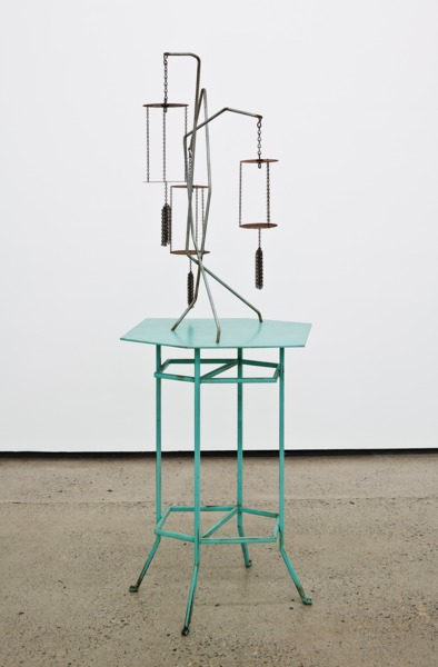 Martin Boyce, Orchard House Ghosts and Flowers, 2013, Painted steel, galvanised steel, rusted steel, 151 x 59 x 47 cm
