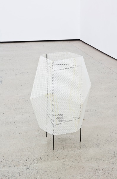 Martin Boyce, Dead Star, 2013, Steel, blackened steel, cast aluminium and paint, 60 x 40 x 40 cm