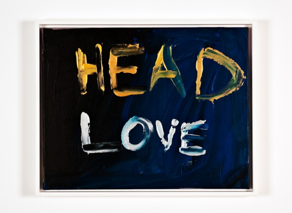 Sue Tompkins, Head Love, 2013, Acrylic on canvas, 39 x 49 x 4 cm