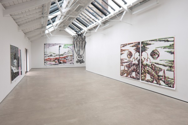 Installation view, 'The Rose Engine', The Modern Institute, Osborne Street, Glasgow, 2013