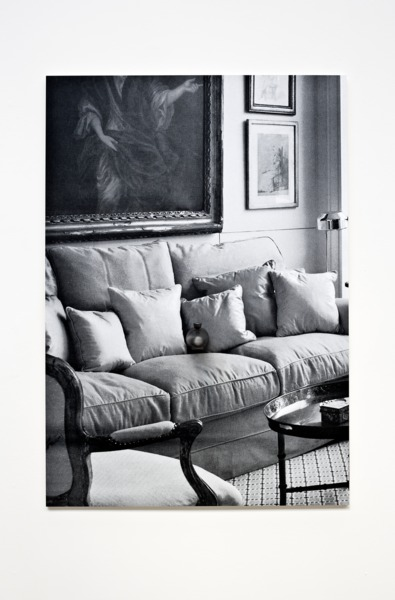 Adam McEwen, Faucet, 2013, Inkjet print on lusterboard, graphite, 111 x 78 x 17 cm