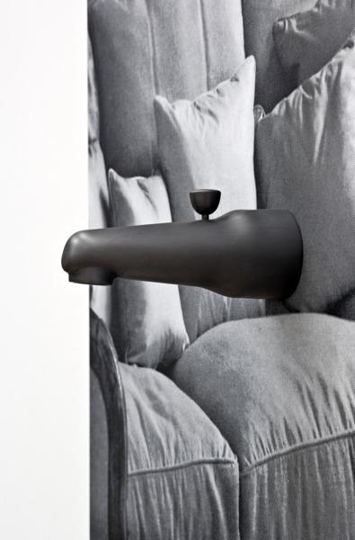 Adam McEwen, Faucet (detail), 2013, Inkjet print on lusterboard, graphite, 111 x 78 x 17 cm