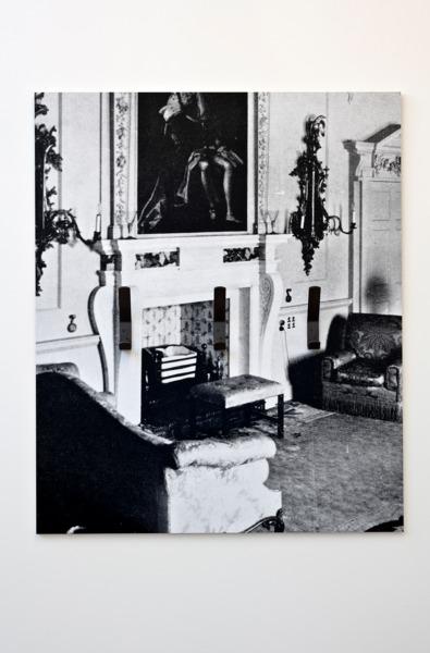 Adam McEwen, Coat Hooks, 2013, Inkjet print on lusterboard, graphite, 107.5 x 89.5 x 8.5 cm