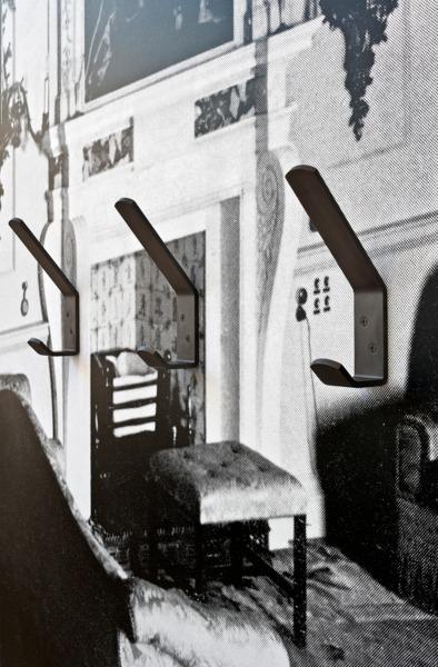 Adam McEwen, Coat Hooks (detail), 2013, Inkjet print on lusterboard, graphite, 107.5 x 89.5 x 8.5 cm
