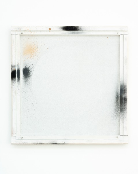 Manfred Pernice, <anexo> 2, 2013, Spray paint and enamel paint on frame, 42.5 x 42.5 x 4 cm