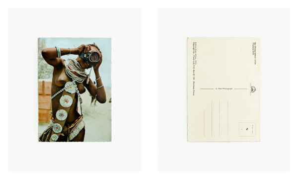 Anne Collier, Woman With A Camera (Postcard, Verso Recto), 2013, C-print, 2 prints 115.3 x 95.6 cm each