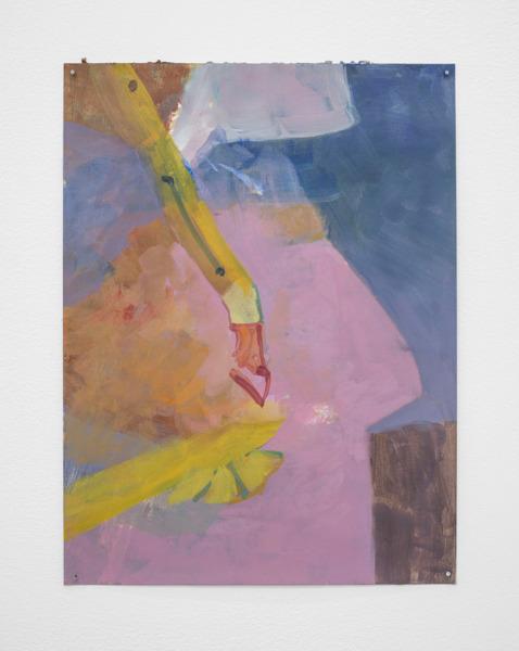 Andrew Kerr, Proboscis, 2014, Acrylic on paper, 30.5 x 23 cm