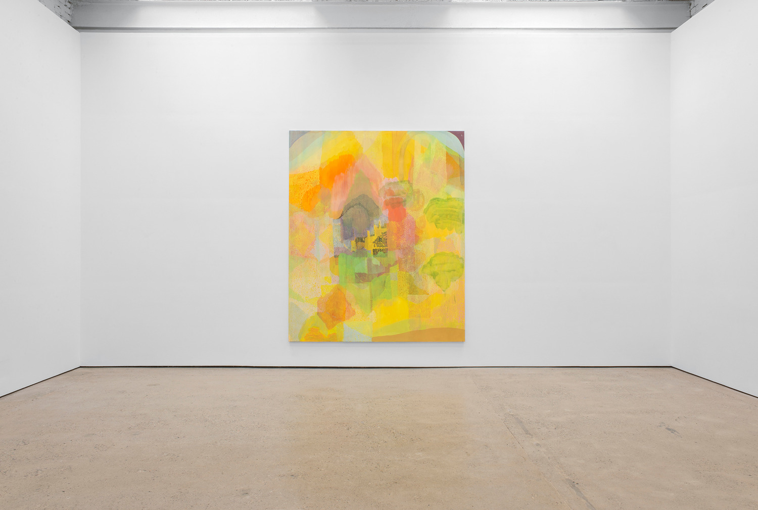 Victoria Morton, Delay Dispersion, 2014, Oil on canvas, 300 x 250 x 4 cm, Installation view, The Modern Institute, Aird's Lane, Glasgow, 2014