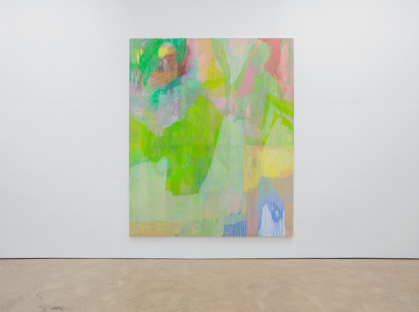 Victoria Morton, Soliton, 2014, Oil on canvas, 300 x 249.9 x 4.1 cm, Installation view, The Modern Institute, Aird's Lane, Glasgow, 2014