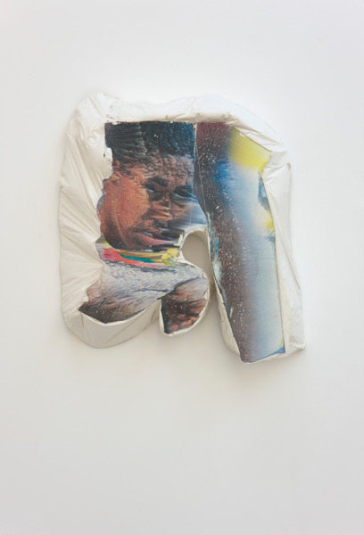 Alex Dordoy, Paradise of new H No. 2, 2012, Plaster, toner, 57 x 49 x 12 cm