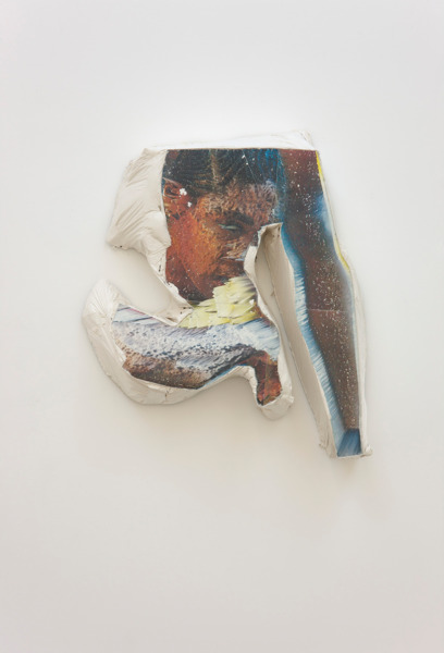 Alex Dordoy, Paradise of new H No. 3, 2012, Plaster, toner, 57.5 x 49.5 x 15 cm