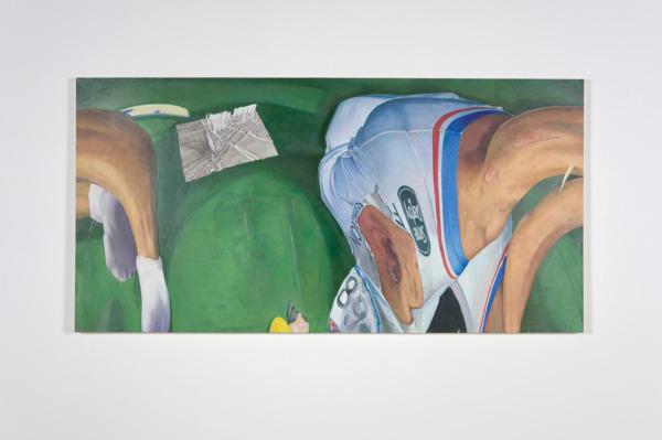 Alex Dordoy, a halo of mist as a warning, 2012, Oil on canvas, 125 x 250 x 5 cm