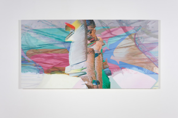 Alex Dordoy, the clouds of my youth and dreams are gone, 2012, Oil on canvas, 125 x 250 x 5 cm