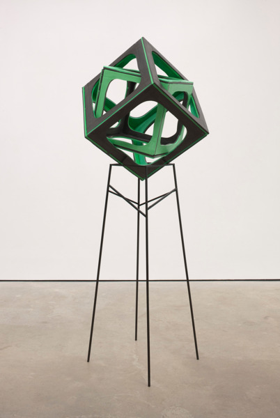 Eva Rothschild, Primary, 2012, Jesmonite, metal, 212 x 77 x 77 cm