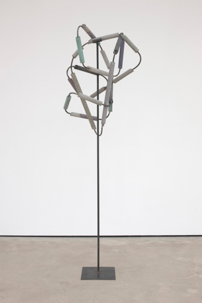 Eva Rothschild, Bad Atom, 2012, Concrete, rebar, metal, 218 x 70 x 70 cm