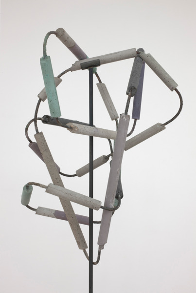 Eva Rothschild, Bad Atom (detail), 2012, Concrete, rebar, metal, 218 x 70 x 70 cm