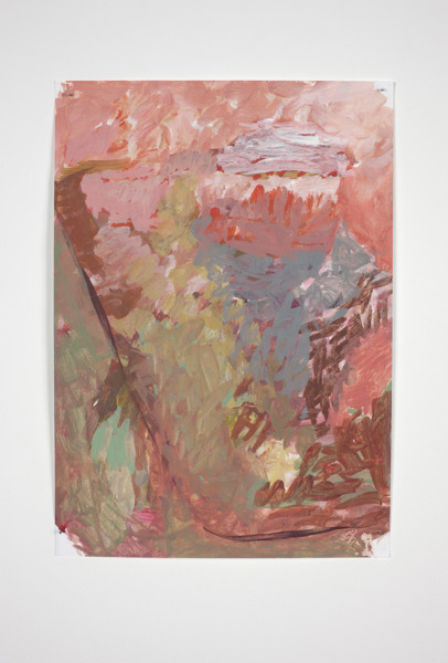 Andrew Kerr, Untitled, 2012, Acrylic on paper, 29 x 21 cm