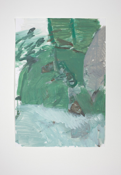 Andrew Kerr, Untitled, 2010, Acrylic on paper, 29 x 21 cm