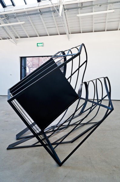 Monika Sosnowska, Ramp, 2012, Painted steel, 210 x 380 x 210 cm