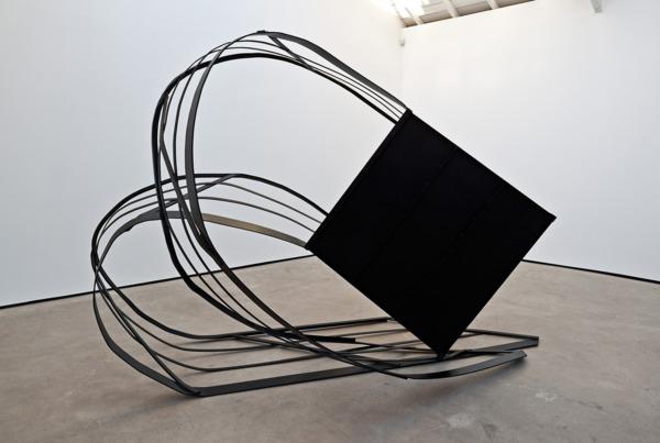 Monika Sosnowska, Ramp, 2012, Painted steel, 210 x 380 x 210 cm