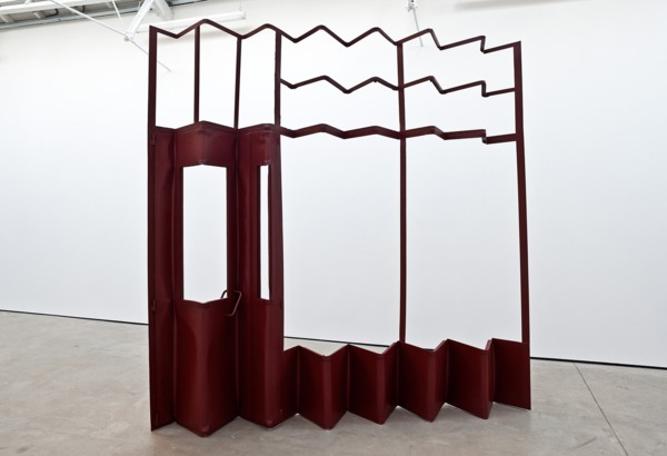 Monika Sosnowska, Screen, 2012, Painted steel, 273 x 273 x 31 cm