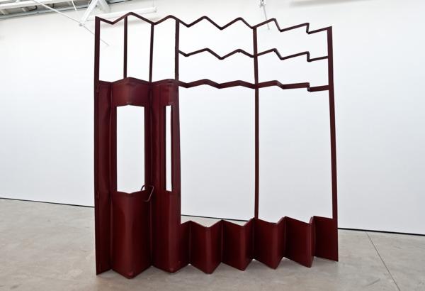 Monika Sosnowska, Screen, 2012, Painted steel, 273 x 273 x 31 cm