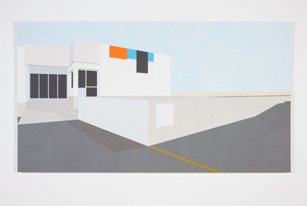 Toby Paterson, Commercial Landscape (Windows and Doors), 2011, Painting on Aluminium, 100 x 180 x 2.5 cm