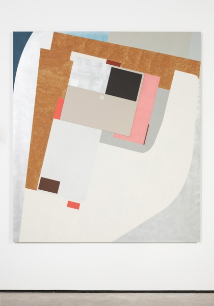 Toby Paterson, Ad Hoc Assembly, 2014, Acrylic, pencil, board, Modelspan paper and wood on aluminium, 200 x 180 x 3 cm