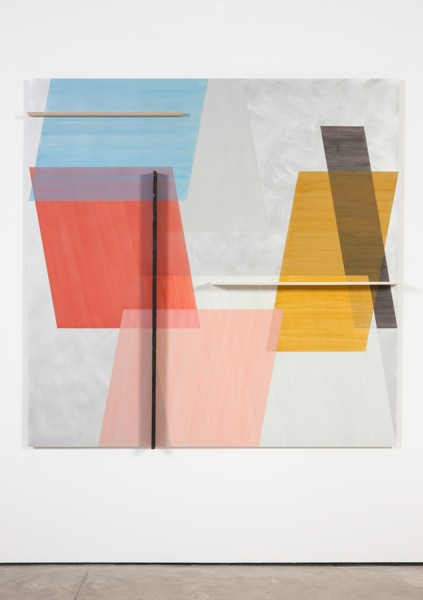 Toby Paterson, Ten Degrees, 2014, Acrylic, pencil and wood on aluminium, 180 x 180 x 3 cm