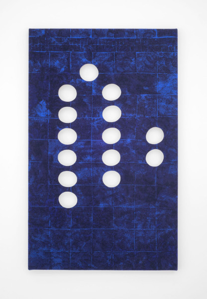 Scott Myles, Studio Wall Jacquard (iii), 2014, Lambswool, wooden stretcher, 162 x 100 x 4.5 cm