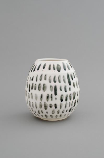 Shio Kusaka, (mark 18), 2012, Porcelain, 17.1 x 15.9 x 15.9 cm