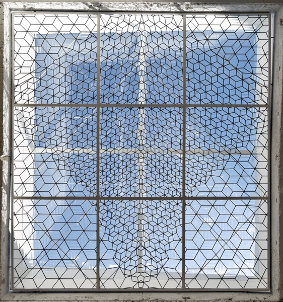 Richard Wright, No Title (detail), 2014, Handmade leaded glass, Dimensions variable, Installation view, The Modern Institute, Aird's Lane, Glasgow, 2014