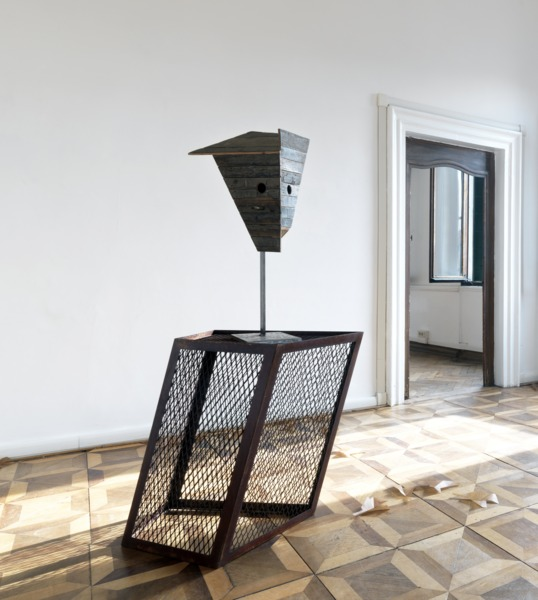 Martin Boyce, There are Places, 2009, MDF, wood, steel, 160 x 61 x 72 cm, Installation view 'No Reflections: Scotland and Venice,' Venice Biennale, 2009