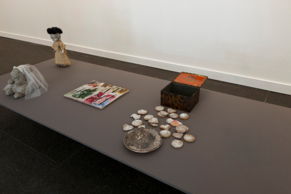 Cathy Wilkes, No Title, 2011 (detail), Mixed Media, Dimensions Variable, Installation view, Carnegie Museum of Art, Pittsburgh, 2011
