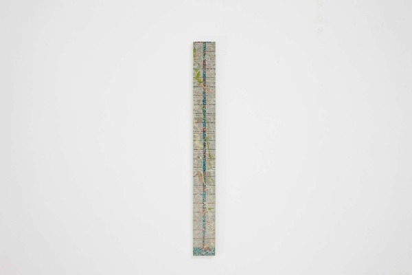Alex Dordoy, Cong (cerulean vine), 2013, Toner and acrylic on jesmonite, 77.5 x 8 x 2 cm