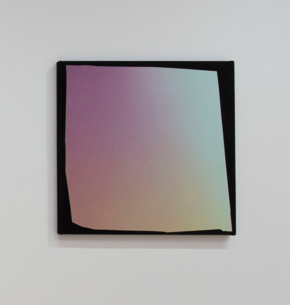 Kim Fisher, Magazine Painting (Three Color Fade), 2014, Oil on dyed Linen, 96.5 x 96.5 x 4.5 cm