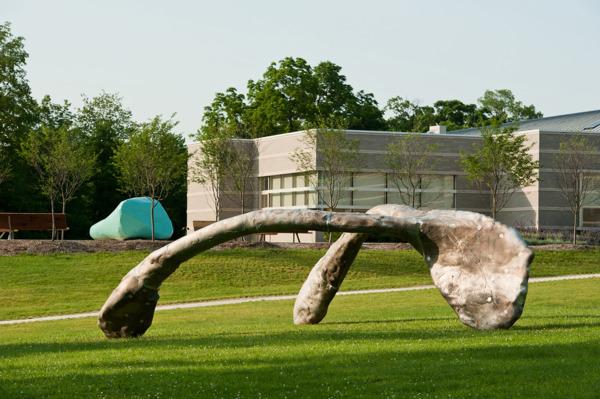 Mark Handforth, Wishbone, 2010, Aluminium, Dimensions variable, Installation view, Hessel Museum of Art, New York, 2011