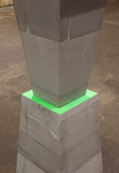 Tombstones, 2011, Jesmonite, felt, aluminium, polystyrene and fibreglass, 348 x 39 x 39 cm