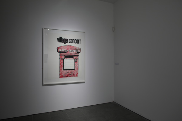 'Village Concert' poster, (designed by Keith Rowe, 1970), 2006, Silkscreen print, 112 x 77 cm, Edition of 20
